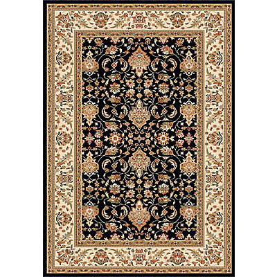 Dynamic Rugs Royal Garden 5 x 8 Black-Ivory 105-8190