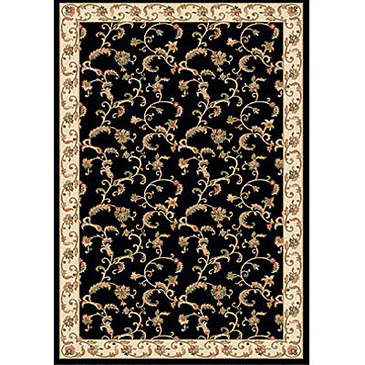 Dynamic Rugs Royal Garden 5 x 8 Black-Ivory 107-8190
