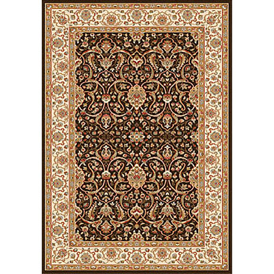 Dynamic Rugs Royal Garden 4 x 6 Chocolate-Ivory 104-8030