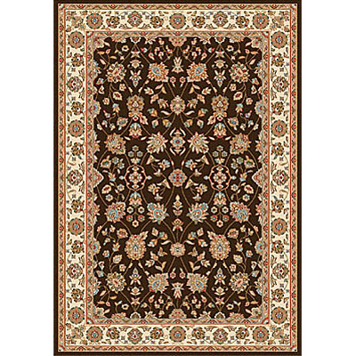 Dynamic Rugs Royal Garden 7 x 10 Chocolate-Ivory 106-8030