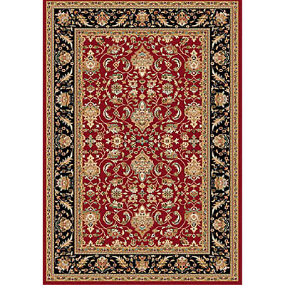 Dynamic Rugs Royal Garden 5 x 8 Red-Black 105-8159