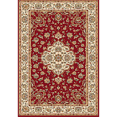 Dynamic Rugs Royal Garden 5 x 8 Red-Ivory 103-8150