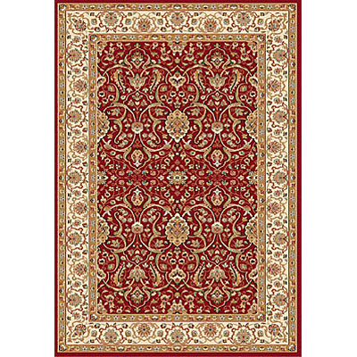 Dynamic Rugs Royal Garden 5 x 8 Red-Ivory 104-8150