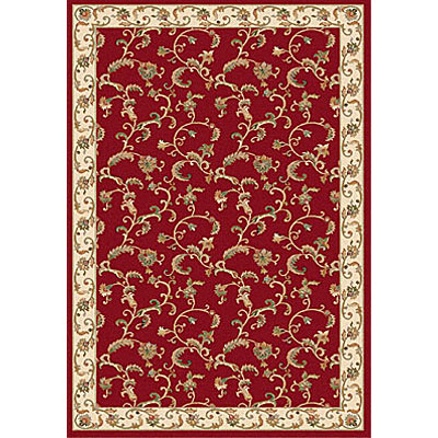 Dynamic Rugs Royal Garden 4 x 6 Red-Ivory 107-8150