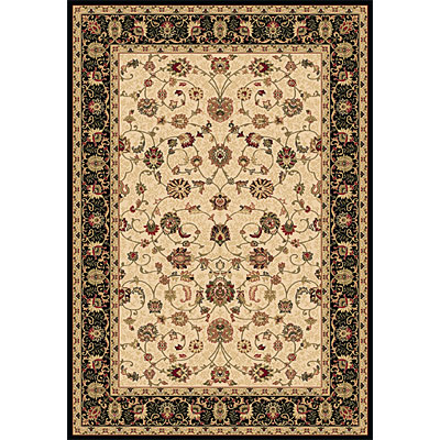 Dynamic Rugs Shiraz 8 x 11 Ivory Black 51007-2013
