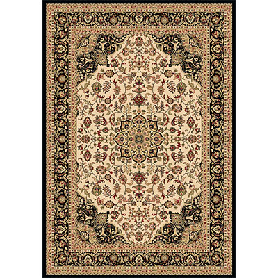 Dynamic Rugs Shiraz 8 x 11 Ivory Black 51010-2013