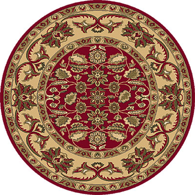 Dynamic Rugs Shiraz 8 Round Red 51006-2100