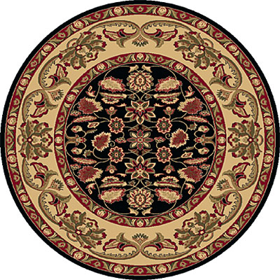 Dynamic Rugs Shiraz 8 Round Black 51006-2300