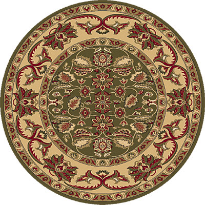 Dynamic Rugs Shiraz 5 Round Green 51006-2500