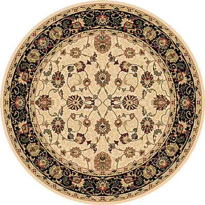 Dynamic Rugs Shiraz 5 Round Ivory/Black 51007-2013