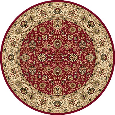 Dynamic Rugs Shiraz 8 Round Red 51007-2100