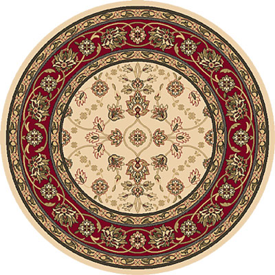 Dynamic Rugs Shiraz 5 Round Ivory/Red 51025- 2011