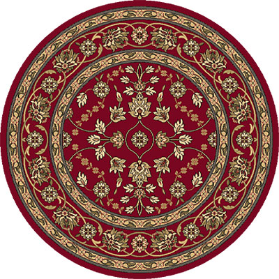 Dynamic Rugs Shiraz 8 Round Red 51025-2100