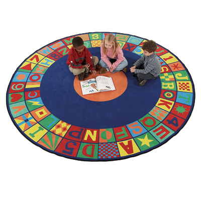 Flagship Carpets Floors That Teach 8 ft Round Floors That Teach FTT8RD