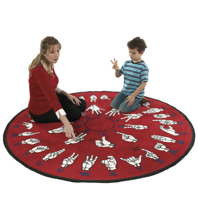 Flagship Carpets Hands That Teach 6 x 6 Hands That Teach HTT6RD