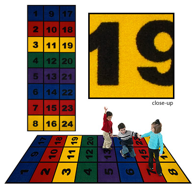 Flagship Carpets Number Blocks 6 x 8 Number Blocks NBLO68