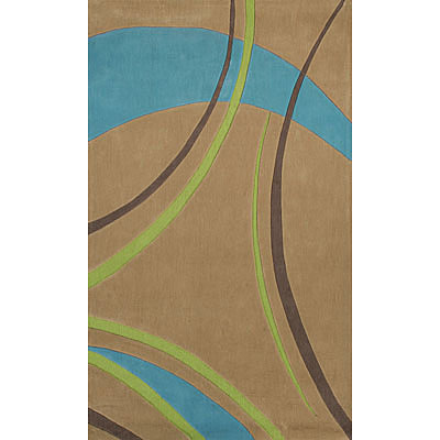 Foreign Accents Festival Waves 3 x 8 Runner Tan JAM2755