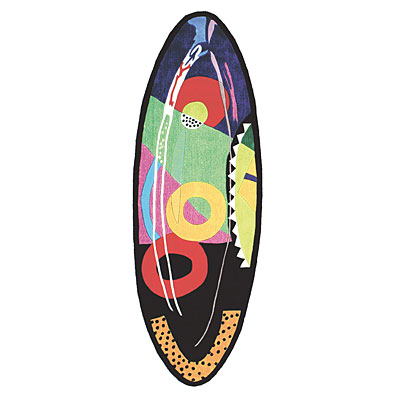 Foreign Accents Jubilee Surfboards 3 x 8 (Dropped) Jubilee Oval Multi Colored SHS001