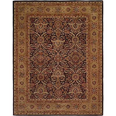 Harounian Rugs International Carlton 9 x 12 (Discontinued) Dark Brown/Gold 401