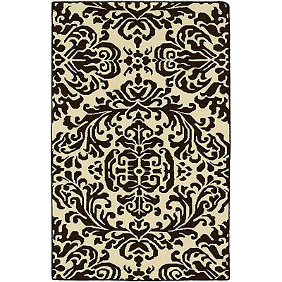 Harounian Rugs International Damask 9 x 12 (Discontinued) Ivory/Black DHG12