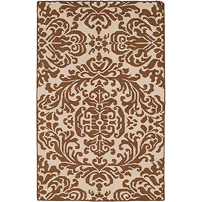 Harounian Rugs International Damask 6 x 9 (Discontinued) Ivory/Brown DHG7