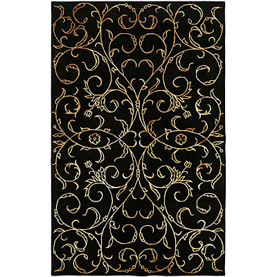 Harounian Rugs International Eden Park 5 x 8 Black 0034