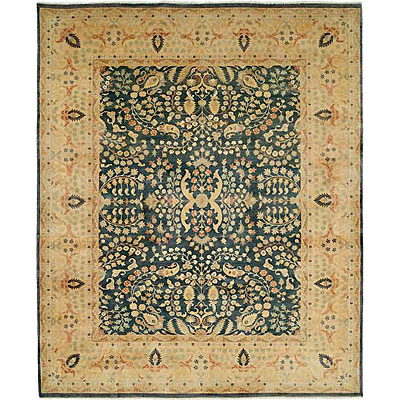 Harounian Rugs International Hadji Jalili 6 x 9 Blue/Gold 6016
