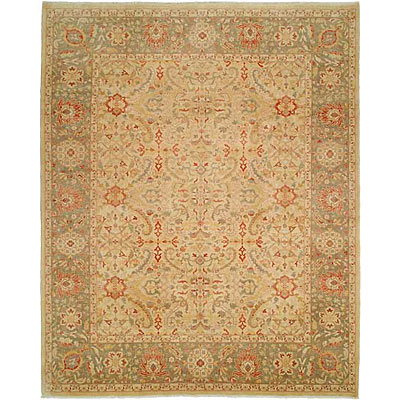 Harounian Rugs International Hadji Jalili 6 x 9 Cream/Green 6017