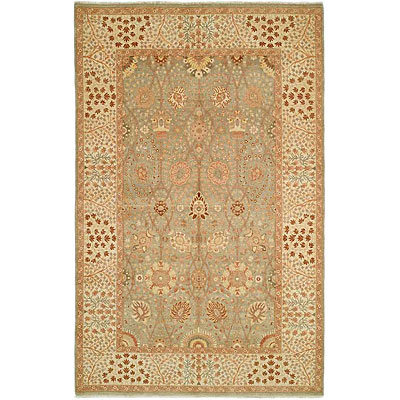 Harounian Rugs International Hadji Jalili 6 x 9 Green/Ivory 6015