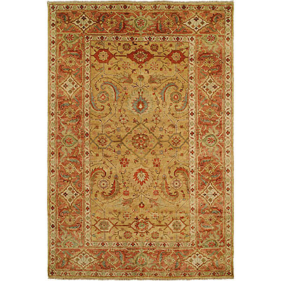 Harounian Rugs International Mahal 8 x 10 Gold/Rust MJ15