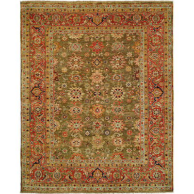 Harounian Rugs International Mahal 8 x 10 Green/Red MJ7