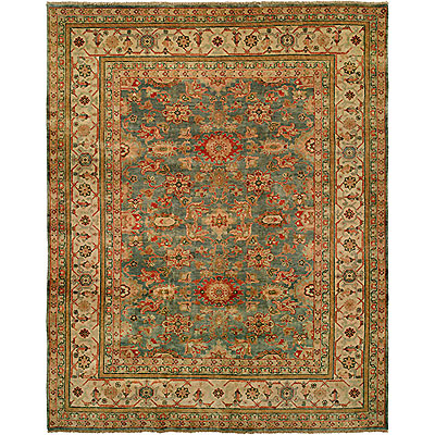 Harounian Rugs International Mahal 8 x 10 Light Blue/Ivory MJ14