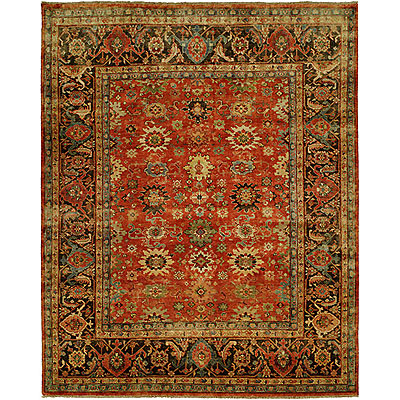Harounian Rugs International Mahal 8 x 10 Red/Charcoal MJ7