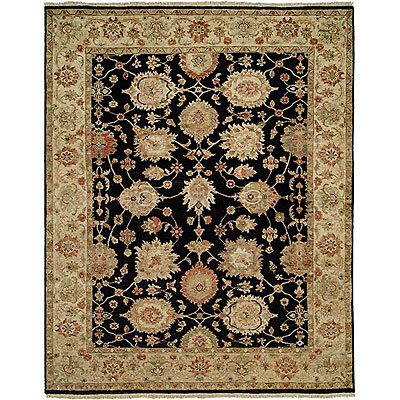 Harounian Rugs International Newburry 8 x 10 Black/Ivory CH3