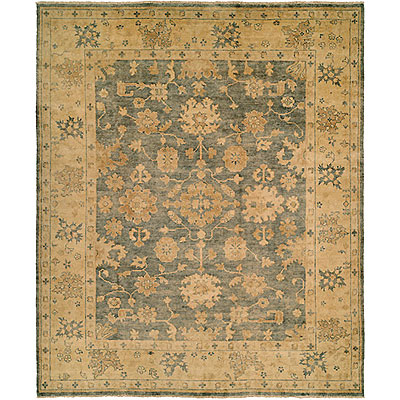Harounian Rugs International Oushak 6 x 9 Blue/Gold B26