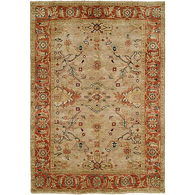 Harounian Rugs International Peshawar 8 x 10 Beige/Rust P15