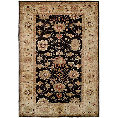 Harounian Rugs International Peshawar 9 x 12 Black/Ivory P5