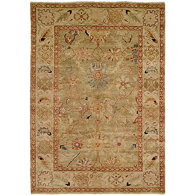 Harounian Rugs International Peshawar 8 x 10 Light Green/Ivory P6
