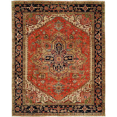 Harounian Rugs International Serapi Heritage 9 x 12 Red/Blue SH14A