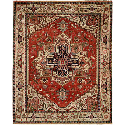 Harounian Rugs International Serapi Heritage 9 x 12 Red/Ivory SH14C