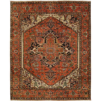 Harounian Rugs International Serapi Heritage 10 x 14 Rust/Rust SH14B