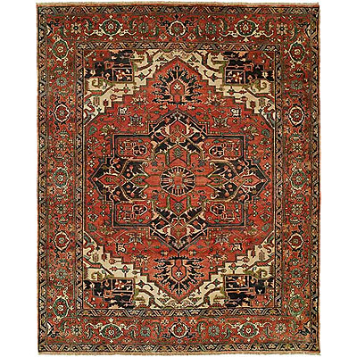 Harounian Rugs International Serapi Heritage 10 x 14 Rust/Rust SH15