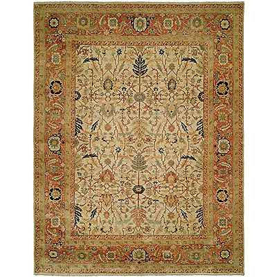 Harounian Rugs International Supreme 8 x 10 Ivory/Rust JR2