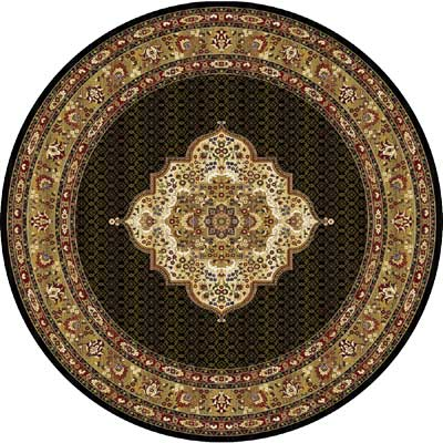 Home Dynamix Cross Woven Legends 5 x 5 Round Black Round 6513 6513BLK