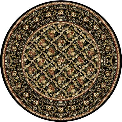Home Dynamix Cross Woven Legends 5 x 5 Round Black Round 6514 6514BLK