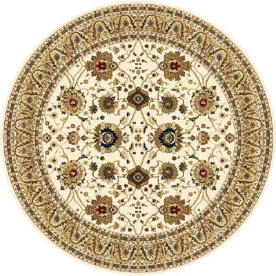 Home Dynamix Cross Woven Legends 5 x 5 Round Ivory Round 6517 6517IV
