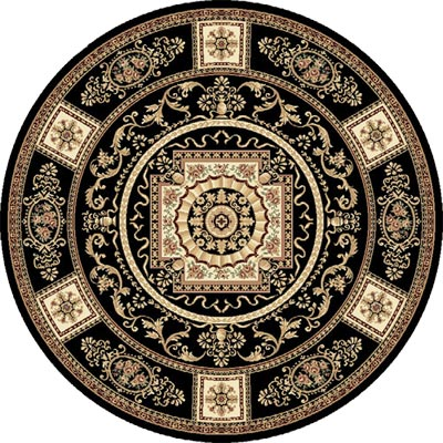Home Dynamix Empress 8 ft Round Black 5075 5075-450