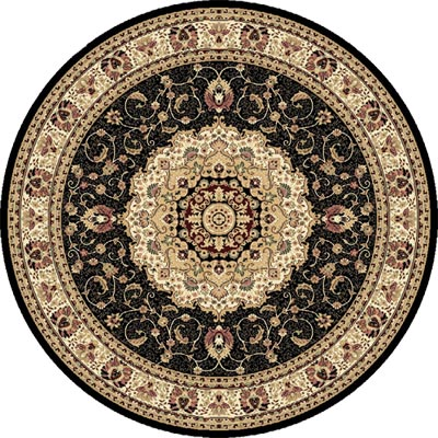 Home Dynamix Empress 8 ft Round Black 5078 5078-450