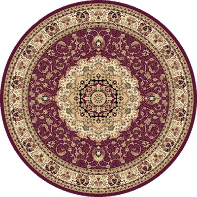 Home Dynamix Empress 8 ft Round Red 5078 5078-200