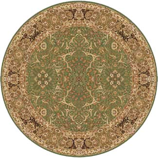 Home Dynamix Golden Age 5 x 5 Round Antique Green 6207 6207ANGR